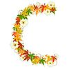 Vector clipart: Autumn floral letter C