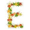 Vector clipart: Autumn floral letter E