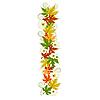 Vector clipart: Pattern floral letter I