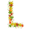 Vector clipart: Autumn floral letter L