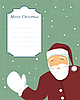 Vector clipart: Santa with text banner