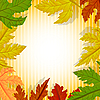 Vector clipart: frame of leaves