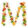 Vector clipart: Autumn floral letter M