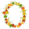 Vector clipart: Autumn floral letter O