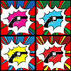 Vector clipart: Pop art revolver background