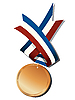 Vector clipart: Realistic bronze medal