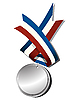 Vector clipart: Realistic silver medal