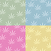 Vector clipart: Seamless cannabis pattern