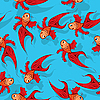 Vector clipart: Seamless fish pattern