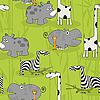 Vector clipart: Wild animals pattern