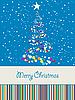 Векторный клипарт: Радостные рождественскую открытку