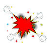 Vector clipart: Explosion icon comic style