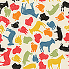 Vector clipart: Farm animals seamless pattern