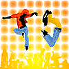 Dancing teenagers | Stock Vector Graphics