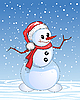 Vector clipart: Snowman cartoon