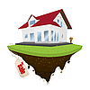 Vector clipart: House for sale