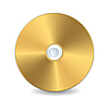 Vector clipart: Golden compact disc