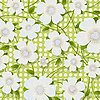 Vector clipart: Green floral background