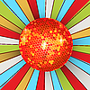 Vector clipart: Retro shining disco ball