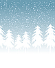 Vector clipart: Winter snowy landscape