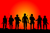 Vector clipart: Soldiers