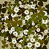 seamless floral pattern with clovers
