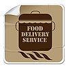Food delivery sticker | Stock Vector Graphics