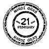 Vector clipart: 2012 Mardi Gras grunge stamp