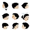 Векторный клипарт: Детские лица, эмоции