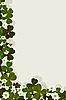 Vector clipart: clover corner