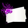 Vector clipart: Mardi Gras purple mask