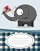 Card with elephant | Stock Vector Graphics