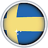 Vector clipart: Swedish flag button