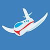 Векторный клипарт: Игрушечный самолет