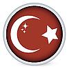Векторный клипарт: Турция флаг кнопку