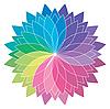 Векторный клипарт: цветовое колесо