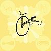 Векторный клипарт: Урожай иллюстрация велосипеде