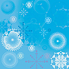 Vector clipart: Winter background of snowflakes