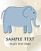 Векторный клипарт: слон