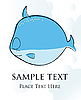 Vector clipart: Fish card