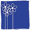Векторный клипарт: Grunge цветочные