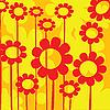Векторный клипарт: цветочная карта