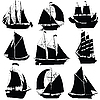 Vector clipart: Sailing ships collection