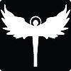Векторный клипарт: Ангел силуэт