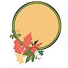 Векторный клипарт: Осень медальон