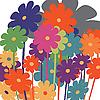 Векторный клипарт: стилизованные цветы