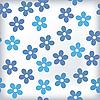 Векторный клипарт: Ванна плитка с sealess цветочный мотив в цветах