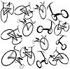 Векторный клипарт: Велосипеды фоне иллюстрации
