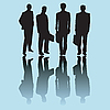 Векторный клипарт: Силуэт бизнес-мужчина
