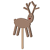 Vector clipart: Christmas reindeer chocolate on stick